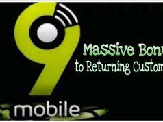 9mobile massive bonus to returning customers